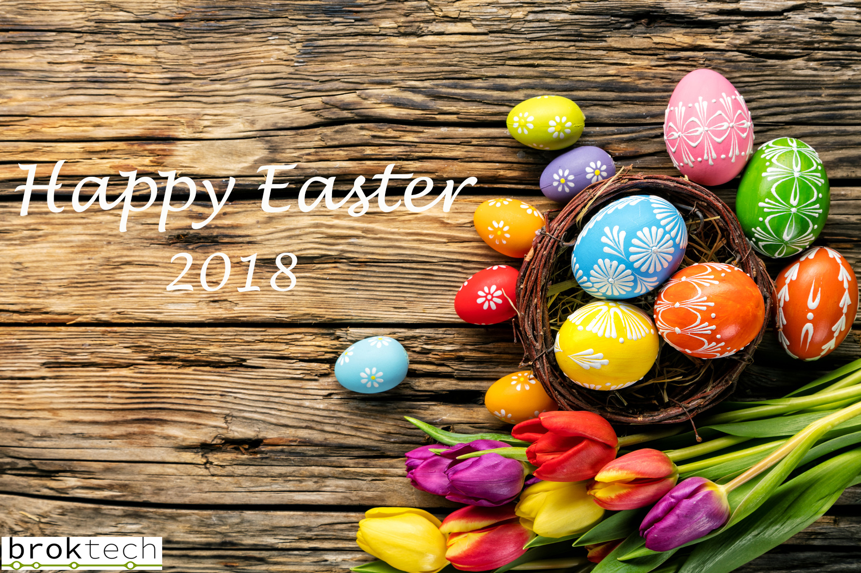 Easter Greeting 2018 Broktech